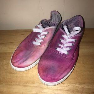 Tie dye shoes